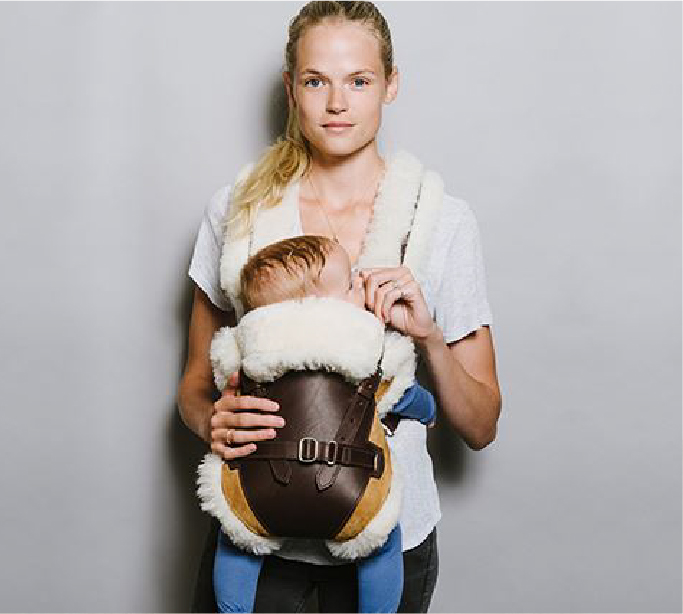 leather baby carrier