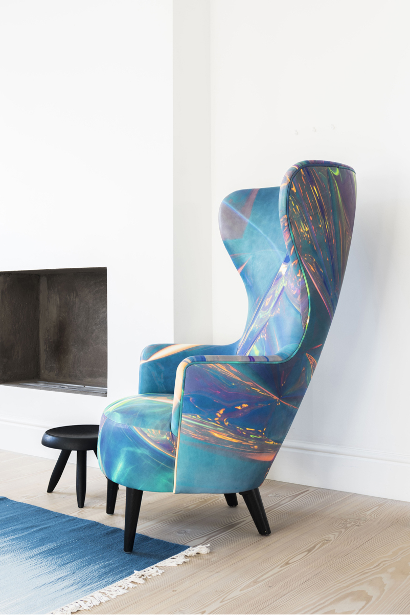 An armchair furnished with Tom Dixon's