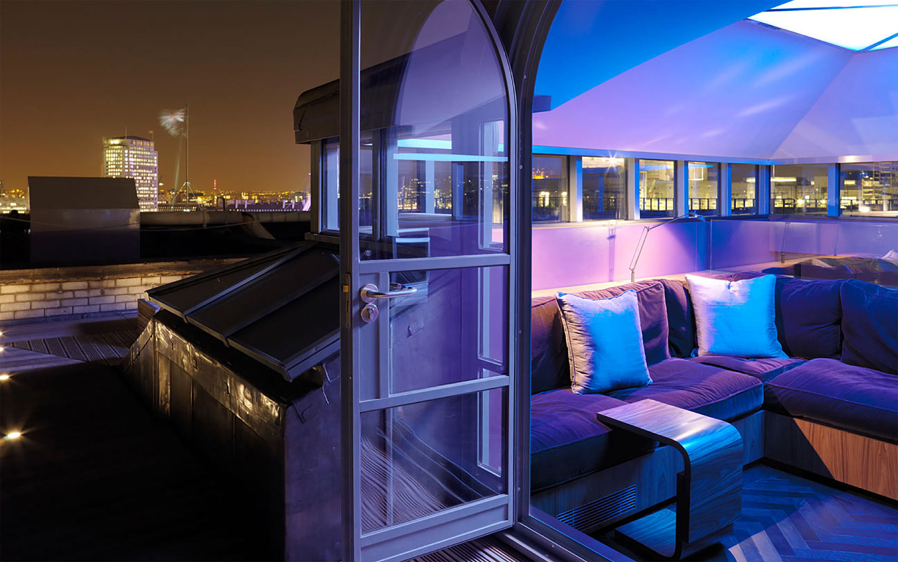 The roof terrace of the apartments.