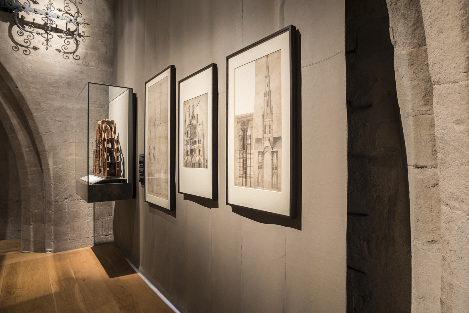 Paintings and artefacts on display in the Triforium.